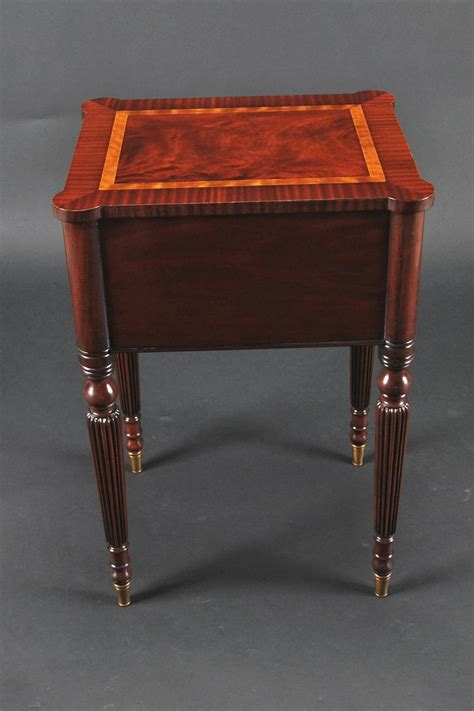 mahogany accent tables mahogany sheraton style accent table with brass feet