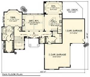 Modern Craftsman House Plans by Contemporary Craftsman Ranch Traditional House Plan 73307