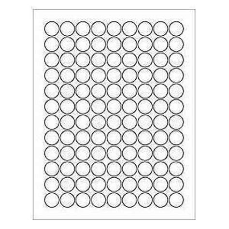 sheets   blank  circle white stickers