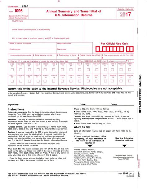 sle 1096 form filled out sle 1096 form filled out form 1096 transmittal of forms
