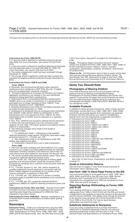 section 409 a inst 1099 general instructions general instructions for