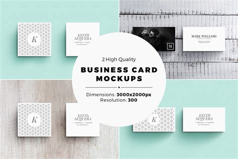 business card mockups with templates by design bundles
