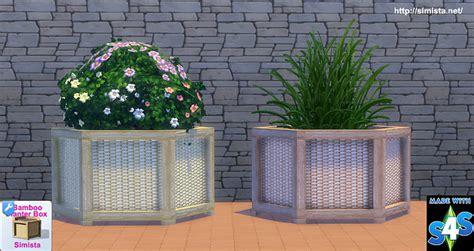 bamboo planter box large bamboo planter box at simista 187 sims 4 updates