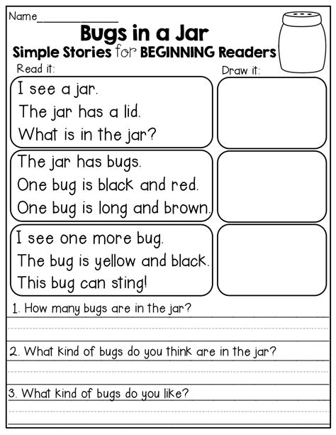 stories for kindergarten simple stories for beginning readers read it draw it and