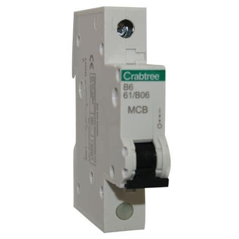 Mcb Schneider 1 Pass 50a crabtree mcb starbreaker miniature circuit breaker 6a 50a