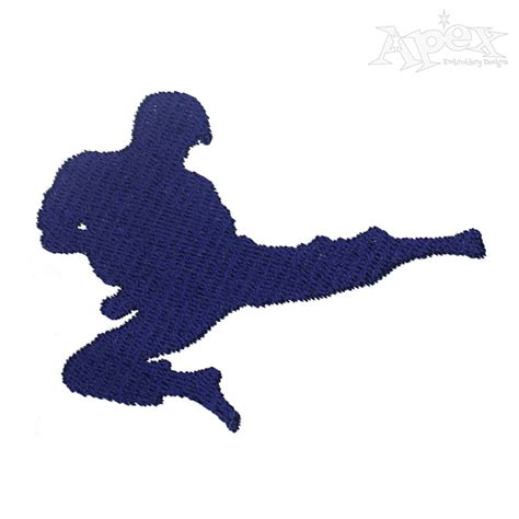 embroidery design karate karate silhouette embroidery design