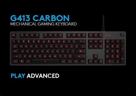 Keyboard Logitech G413 introducing the new logitech g413 mechanical gaming keyboard prodblog prod