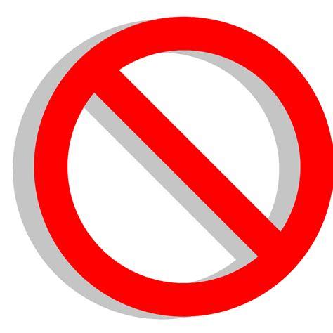 no sign no sign clipart best