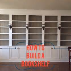 How To Make Wall Bookshelves Right Up My Alley How We Built Our Library Bookshelves