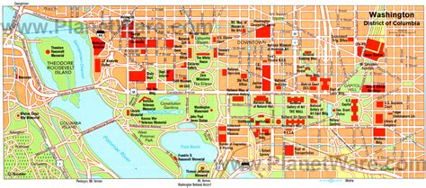 washington dc map of attractions 15 top tourist attractions in washington d c