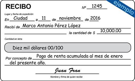 formato de recibo de dinero recibido ejemplos de recibo