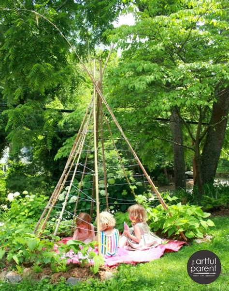 How To Make A Backyard Teepee by 8 Diy Backyard Ideas Your Will Owl And The Deer