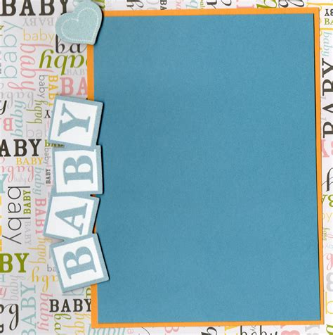Scra Section 527 by The Gallery For Gt Baby Scrapbook Page Templates