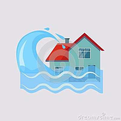 flood house insurance flood house insurance vector illustartion stock vector image 64573082