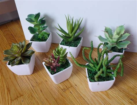 Plant Home Decor by Small Potted Artificial Mini Plants Home Wedding Decor Ebay
