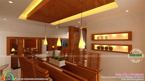 wooden interior wooden finish interior designs kerala home design and