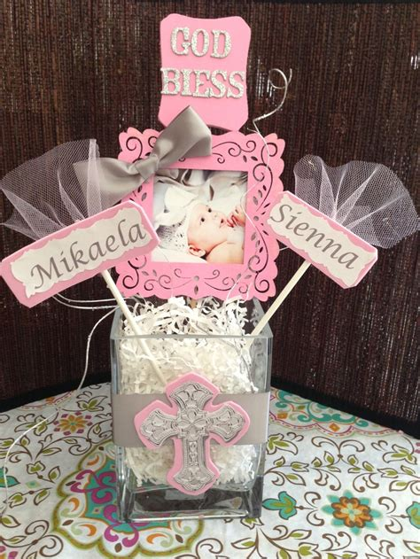 Decoration For Christening Baby by Diy So Easy And Inexpensive Baptism Centerpiece