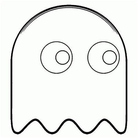 pacman ghost coloring pages pacman coloring pages studynow me
