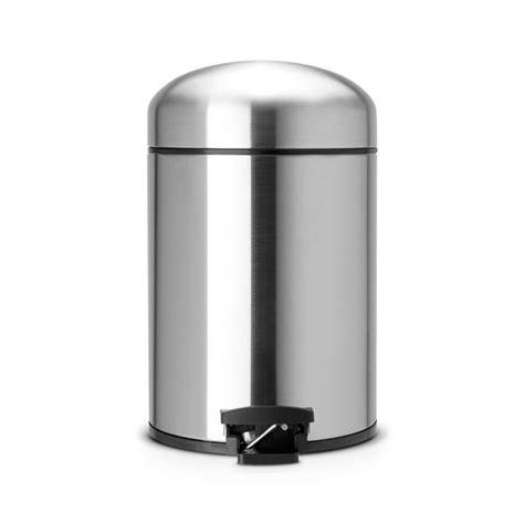 poubelle pour cuisine int馮r馥 brabantia poubelle a p 201 dale retro bin 05 litres matt