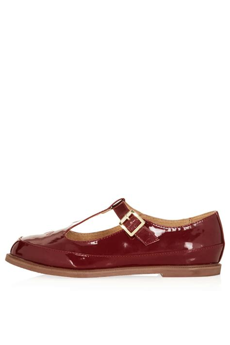t bar shoes topshop martie leather t bar shoes in brown lyst