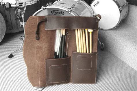 pattern for drum stick bag leather drumstick bag western style with nylon buckles