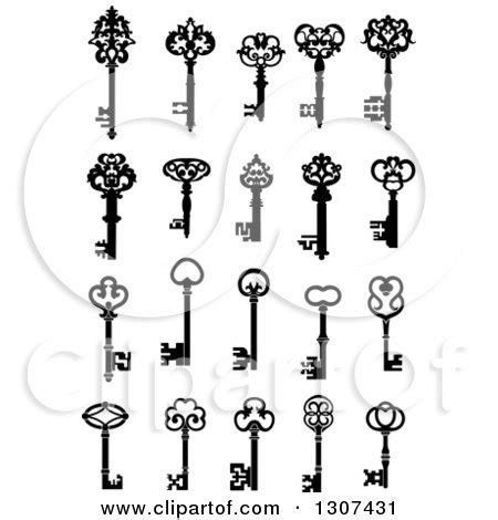 small skeleton key tattoo royalty free rf antique key clipart illustrations