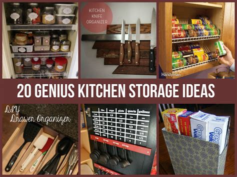 home storage ideas 20 genius kitchen storage ideas