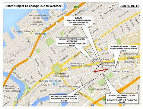 road closures map city of cleveland announces additional fast 8 road