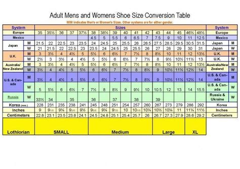 shoe size chart quechua shoe size conversion chart shoes pinterest shoe size