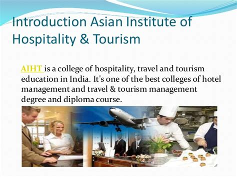Mba Hospitality And Tourism Management In India by Hospitality And Tourism Management India