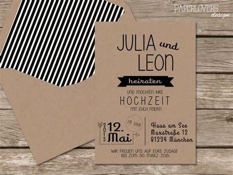 Hochzeitseinladung Kraftpapier by 1000 Ideen Zu Kraftpapier F 252 R Hochzeit Auf