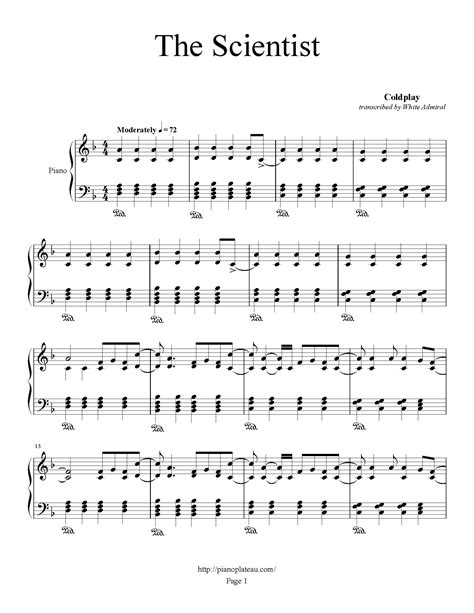 download mp3 coldplay the scientist 320kbps coldplay the scientist piano plateau sheet music