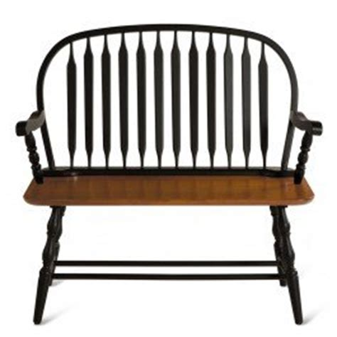 Amazon Com Windsor Bench Black Stain Black W Stain Seat Outdoor Benches Patio