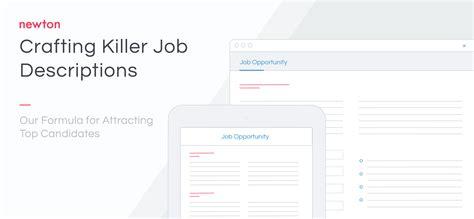 Position Description Template Newtons Job Description | job description template newton software