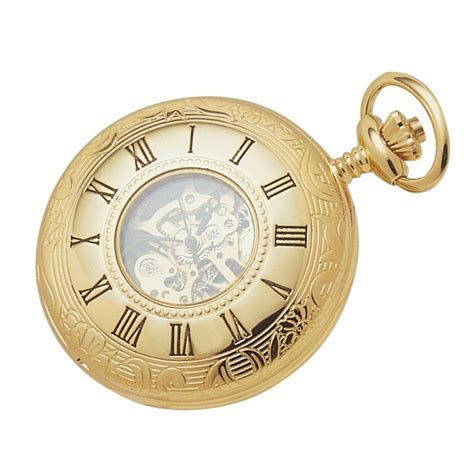 woodford gold plated plated mechanical half pocket