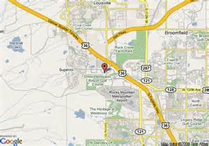 broomfield colorado map map of towneplace suites boulder broomfield broomfield