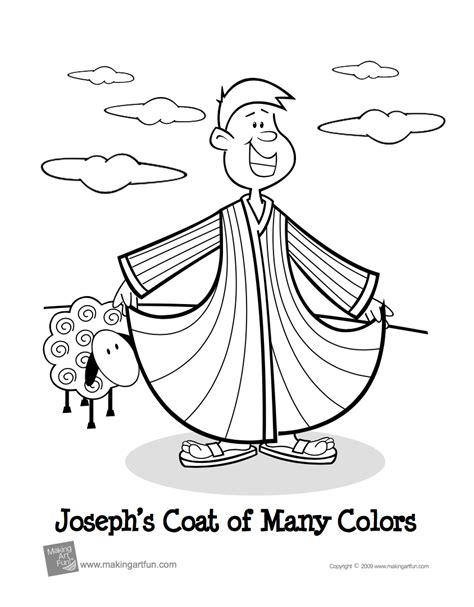 20 Bible Themed Coloring Pages For Kids Embracing Destiny Coloring Page Coat Of Many Colors