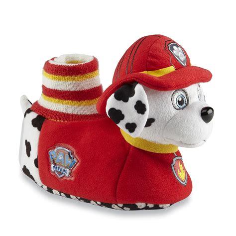 paw patrol slippers nickelodeon toddler boy s paw patrol yellow plush