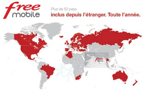 free mobile free mobile destinations liste pays et cartes roaming inclus
