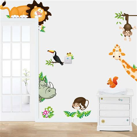 baby room wall decorations stickers animal wall stickers for room zooyoocd001 baby room