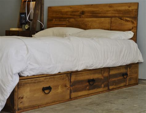 Rustic Platform Bed With Drawers sale 20 rustic wood platform storage bed with drawers