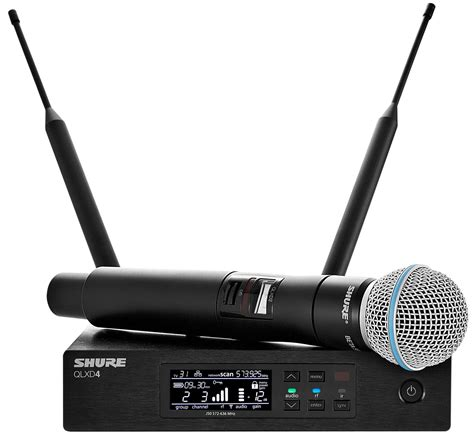 Shure Slx 24beta58 Wirelees Microfone shure qlxd wireless handheld mic system w beta 58 pssl
