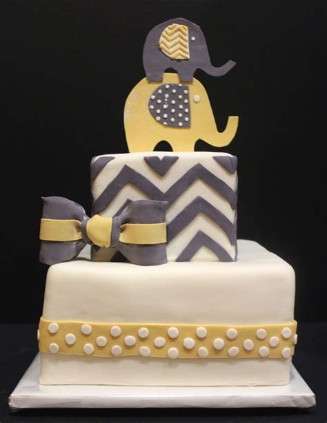 Yellow And Grey Baby Shower Cake by Best 25 Chevron Baby Showers Ideas On Price