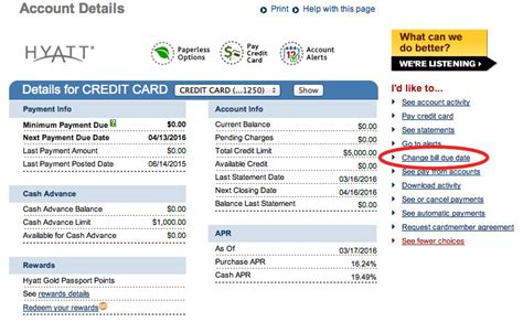 Capital One Credit Card Statement Template by How To Change Credit Card Due Dates At Each Bank