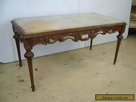 Marble Top Coffee Table For Sale Antique Vintage Beautiful Louis Xvi Carved Marble Onyx Top Coffee Table For Sale In