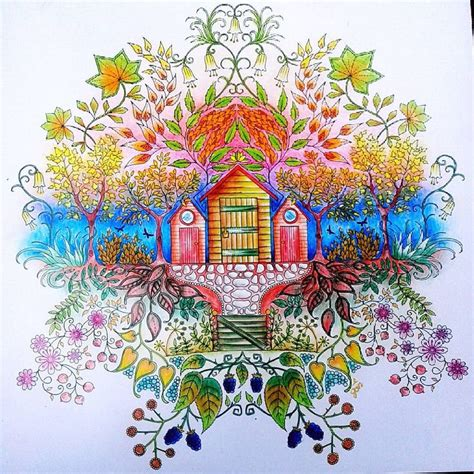 secret garden coloring book colored pencil 1000 images about enchanted forest coloring book on