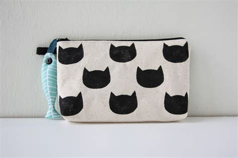 Cat Print Pouch ally s in cats print pouch