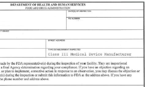Fda Form 483s And Warning Letters Here S How You Respond Device Regulatory Strategy Template