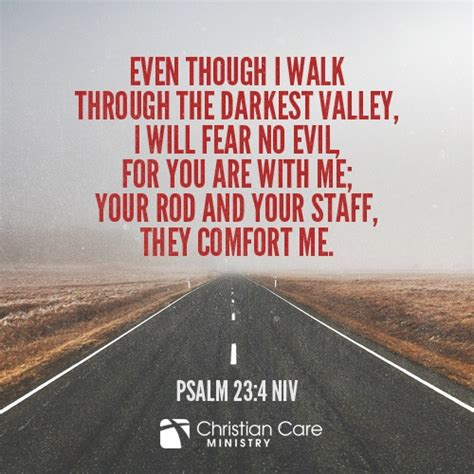 your rod and your staff comfort me psalm 23 4 niv even though i walk through the darkest