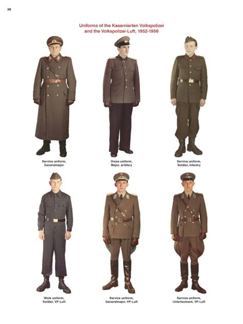 Japanese Generals by Uniforms Of The East German Military 1949 1990 69 99